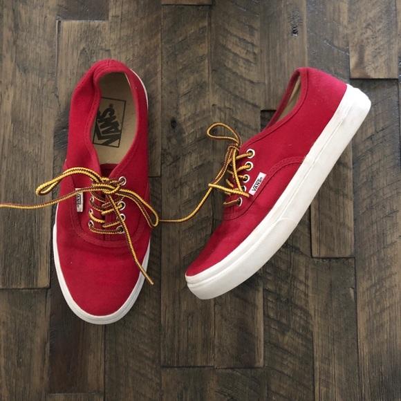 Vans Shoes   Red Vans   Poshmark
